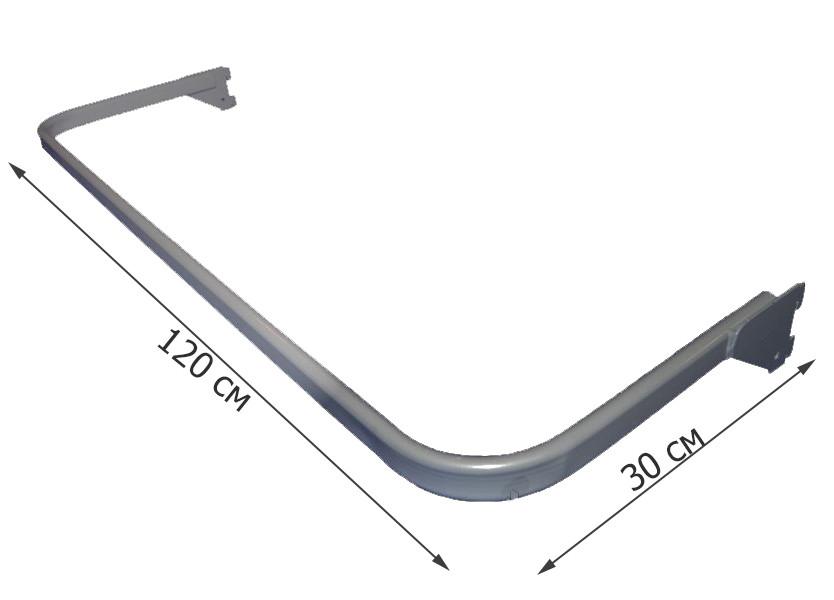 Дуга овальная серая в перфопрофиль 120 см