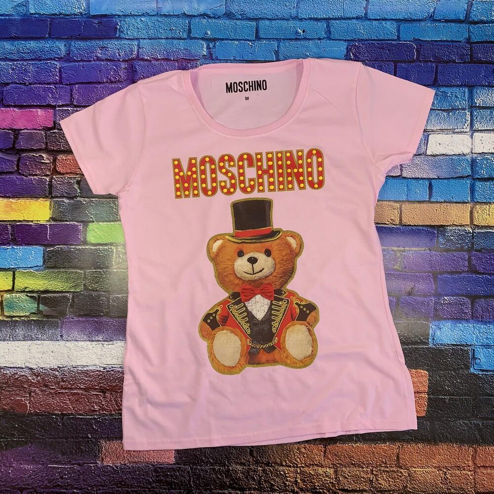 Moschino футболка розовая. Бирка ориг.