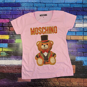Moschino футболка розовая. Бирка ориг., фото 2