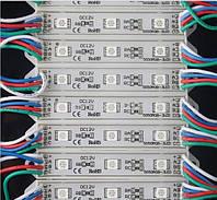 Светодиодный LED модуль SMD 5050-3 RGB герметичный IP65