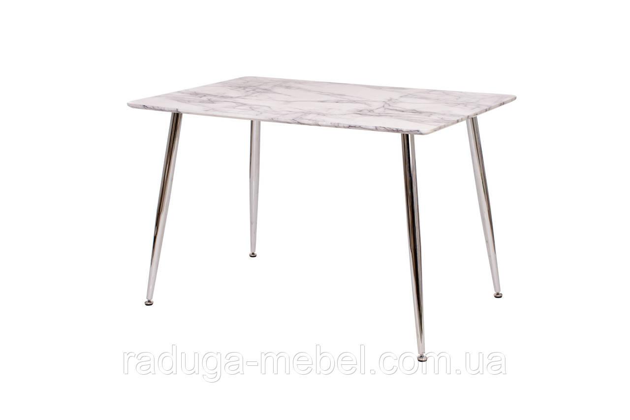 Стол кухонный обеденный  белый мрамор Т-307