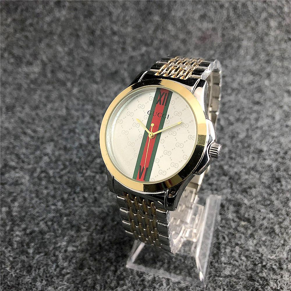 Наручные женские часы Gucci 6848ST Silver-Gold-Silver