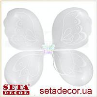Крылья Бабочка белые карнавальные