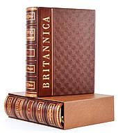 Britannica. Настольная иллюстрированная энциклопедия в 2 томах Подарочное издание в кожаном переплете