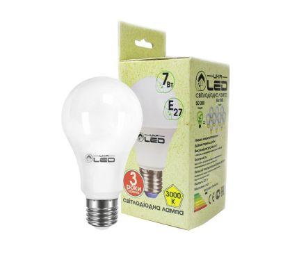 Светодиодная лампа UkrLed Е27 7W (Груша) 3000К