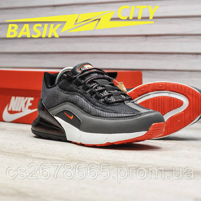 Мужские кроссовки Nike Air Max Hybrid 270-97 Gray фото описания