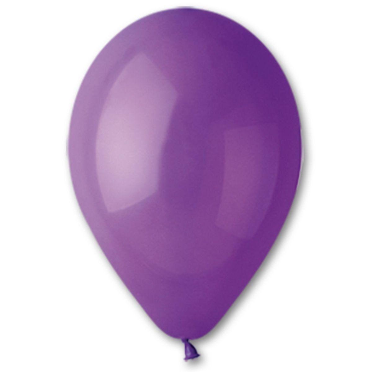 """Латексные шары круглые без рисунка 5"""" 13см Пастель фиолетовый """"GEMAR"""" Италия"""
