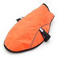Накидка попона для собак малая оранжевая 1025