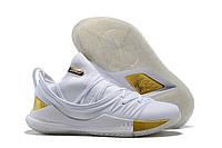 Баскетбольні кросівки Under Armour Curry 5 White/Gold Білі