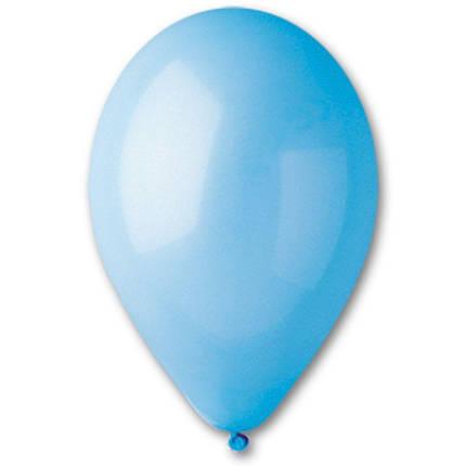 """Латексные шары круглые без рисунка 5"""" 13см Пастель светло-голубой """"GEMAR"""" Италия, фото 2"""