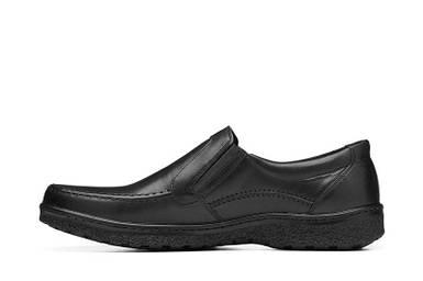Мужские туфли кожаные черные BASTION 004ч