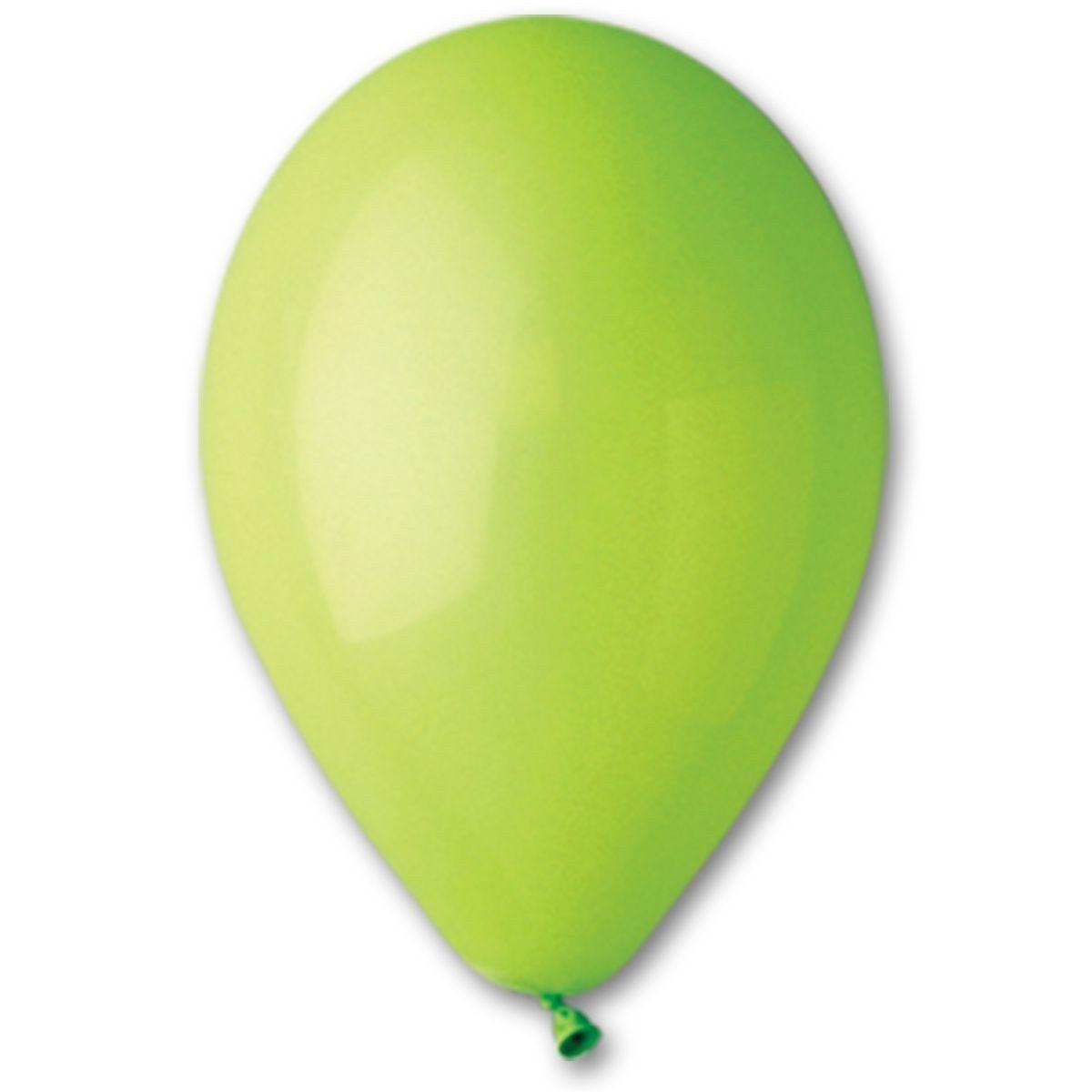 """Латексные шары круглые без рисунка 5"""" 13см Пастель светло-зеленый """"GEMAR"""" Италия"""