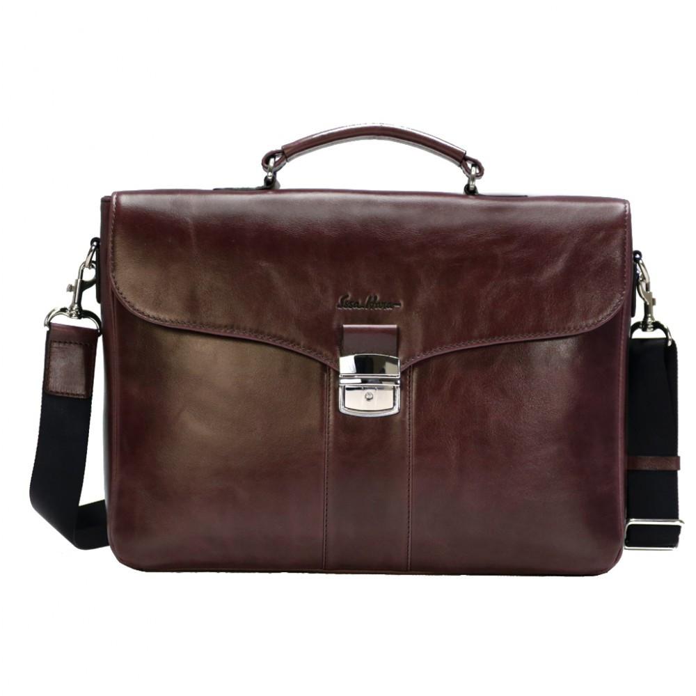 f0beb61dfd6b Мужской кожаный портфель Issa Hara B35 (92-00) коричневый – купить в ...