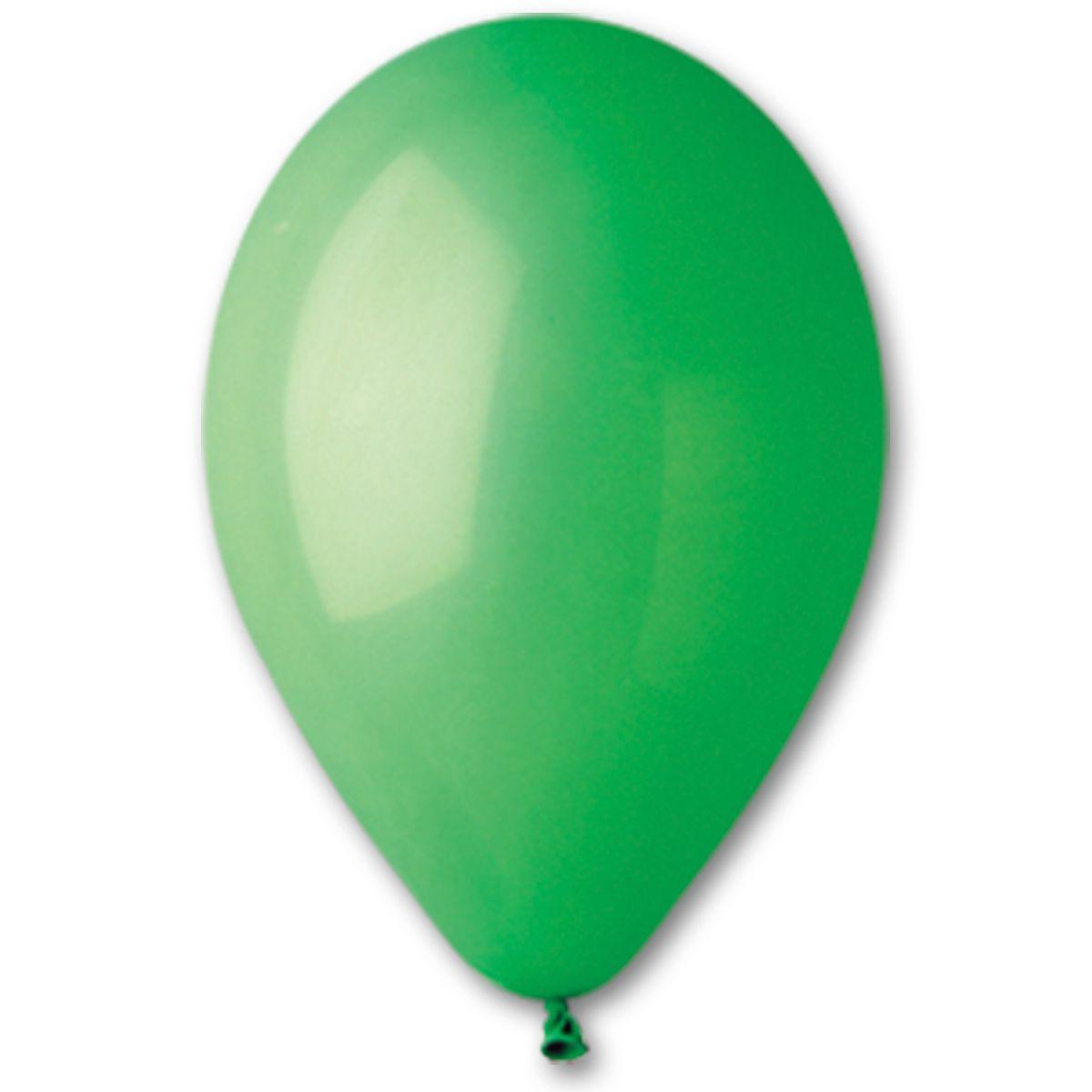 """Латексные шары круглые без рисунка 5"""" 13см Пастель зеленый """"GEMAR"""" Италия"""