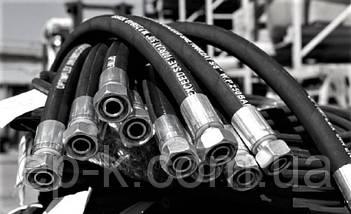 Рукав высокого давления штуцерованный (РВД) Кл.32 М 27*1,5 L=1600 мм, фото 2
