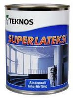 Водорозчинна фарба для стін та стелі Teknos SuperLatexi, 0.9 л