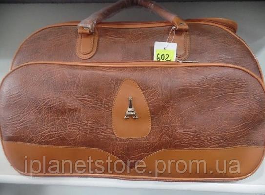 12b1eb8a63dd Дорожная сумка материал кожзам модель 602 цвет коричневый: продажа ...