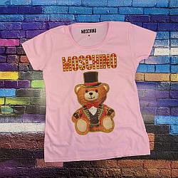 Футболка Moschino женская розовая