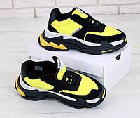 """Мужские кроссовки Balenciaga Triple S 2.0 """"Black Yellow"""" - """"Черные Желтые"""" (Реплика ААА+)"""