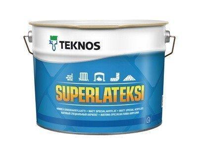 Водорозчинна фарба для стін та стелі Teknos SuperLatexi, 9 л