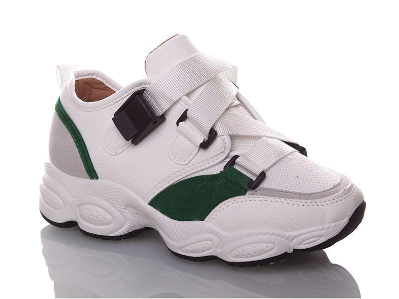 Стильные кроссовки Ideal женские белые на ремешке