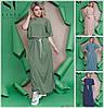 Довге вільне сукня з розрізами з боків Батал до 60 р 18592