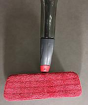 Запаска для швабры-полотера на липучке 40*14см (цвет - розовый), фото 3