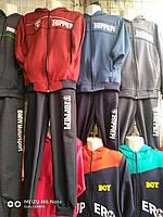 Спортивный костюм для мальчика 8-12 лет синего, бордового, серого  цвета на змейке с капюшоном Ferrari оптом