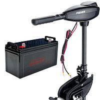 Лодочный электромотор Fisher 32 + герметичный аккумулятор 90 Ач (AGM)