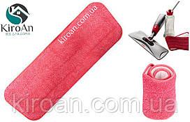 Запаска для швабры-полотера на липучке 40*14см (цвет - розовый)