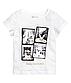 Стильна біла футболка на дівчаток 1,5 - 2 роки, р. 92, H&M, фото 2