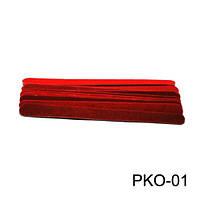 Пилочка одноразовая красная 10 см PKO-01 YRE 10 штук