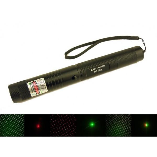 Лазерная указка  HJ-308 red+green 1 насадка