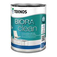 Водорозчинна фарба для стін та стелі Teknos Biora Clean, 0.9 л