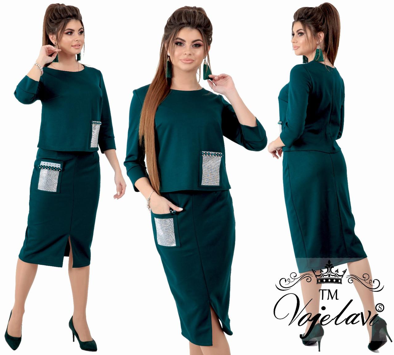 Женский стильный костюм  ОА705 (норма)