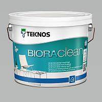 Водорозчинна фарба для стін та стелі Teknos Biora Clean, 2.7 л