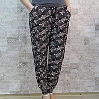 "Брючки женские летние на манжете ,""АССОРТИ"", 48-56 размер. ""Золото"". Тонкие женские брюки для лета БАТАЛ"