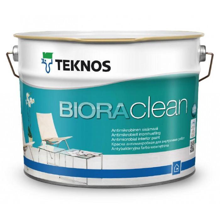 Водорозчинна фарба для стін та стелі Teknos Biora Clean, 9 л