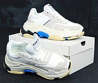 """Женские кроссовки Balenciaga Triple S 2.0 """"White"""" - """"Белые"""" (Реплика ААА+), фото 1"""