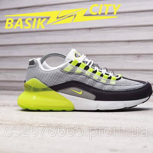 Мужские кроссовки Nike Air Max Hybrid 270-97 Gray Lime фото описания 1