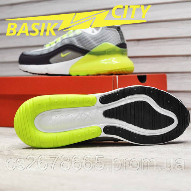 Мужские кроссовки Nike Air Max Hybrid 270-97 Gray Lime фото описания 7