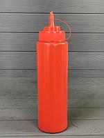 Диспенсер для соусов и сиропов 700 мл. Красный