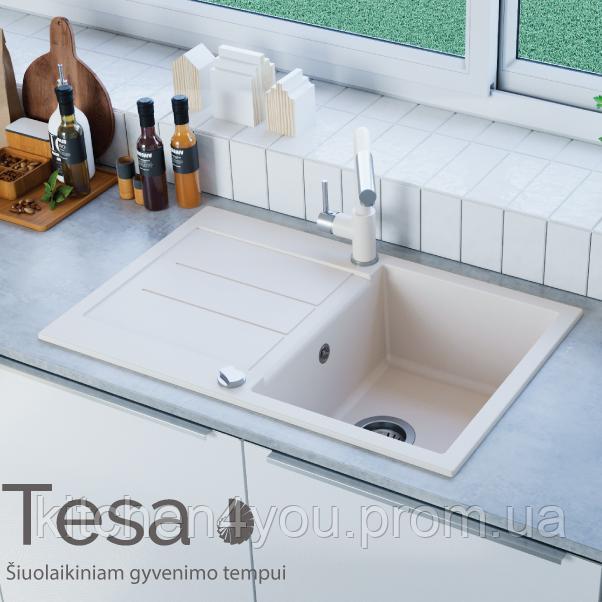 Гранітна мийка AquaSanita Tesa SQT-101 (780х500 мм.)