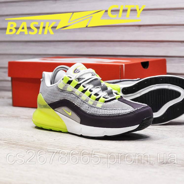 Мужские кроссовки Nike Air Max Hybrid 270/97 Gray Lime