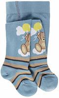 Детские колготы с медвежонком тм Дюна (цвет серо-голубой), р. 74-80, 86-92