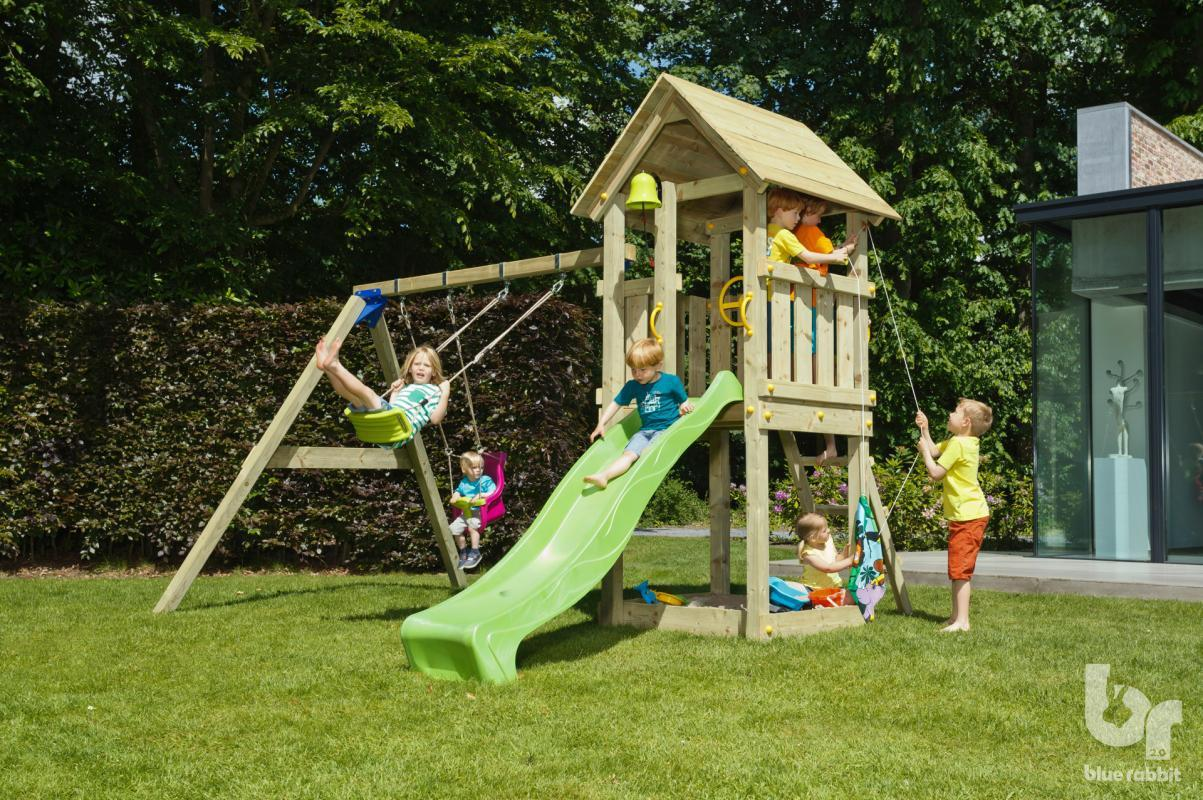 Детский деревянный спортивный комплекс Blue Rabbit KIOSK + SWING