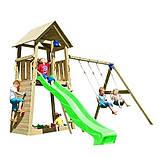 Спорткомплекс деревянный для детей на дачу Blue Rabbit BELVEDERE + SWING, фото 9