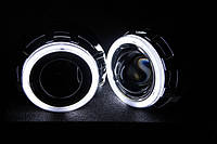 Биксеноновые линзы Morimoto G5 с ангельскими глазками