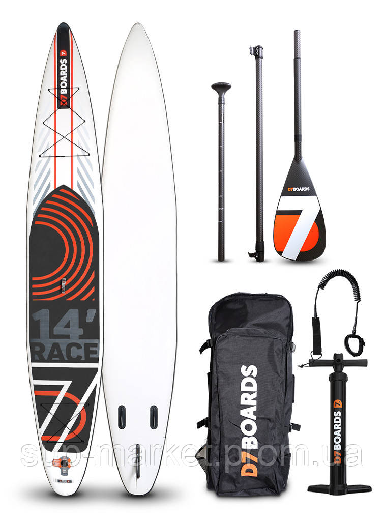 SUP доска D7 Boards 14'0'' x 27'' x 6'' Race, 2019