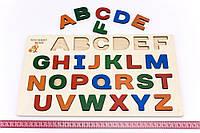 Деревянная игрушка Досточка Вкладки Английский алфавит, фото 1